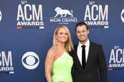 (L-R) Miranda Lambert and Brendan McLoughlin attend the 54th Academy Of Country Music Awards at MGM Grand Hotel & Casino on April 07, 2019 in Las Vegas, Nevada.