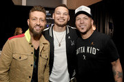 (L-R) Preston Brust of LOCASH, Kane Brown, and Chris Lucas of LOCASH attend the 54th Academy Of Country Music Awards Cumulus/Westwood One Radio Remotes on April 06, 2019 in Las Vegas, Nevada. (Photo by Frazer Harrison/Getty Images for ACM)Preston Brust