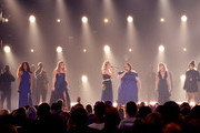 (L-R) Mickey Guyton, Lauren Alaina, Carrie Underwood, Chrissy Metz, and Maddie Marlow and Tae Dye of Maddie & Tae perform onstage during the 54th Academy Of Country Music Awards at MGM Grand Garden Arena on April 07, 2019 in Las Vegas, Nevada.