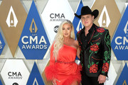 (FOR EDITORIAL USE ONLY) Summer Duncan and Jon Pardi attend the 54th annual CMA Awards at the Music City Center on November 11, 2020 in Nashville, Tennessee.