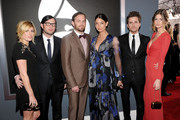Musicians Jared Followill, Nathan Followill and Caleb Followill of the band Kings of Leon arrive at the 54th Annual GRAMMY Awards held at Staples Center on February 12, 2012 in Los Angeles, California.