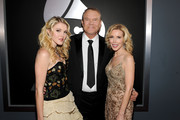 Ashley Campbell, Glen Campbell and Kim Campbell arrive at the 54th Annual GRAMMY Awards held at Staples Center on February 12, 2012 in Los Angeles, California.