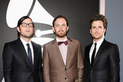 Musicians Nathan Followill, Caleb Followill and Jared Followill of the band Kings of Leon arrive at the 54th Annual GRAMMY Awards held at Staples Center on February 12, 2012 in Los Angeles, California.