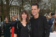 Tom Tykwer and Marie Steinmann arrive at the 54th Grimme Award on April 13, 2018 in Marl, Germany.
