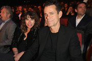 Tom Tykwer and Marie Steinmann attend the 54th Grimme Award on April 13, 2018 in Marl, Germany.