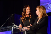 Megan Fox and Anna Behlmer attend the 55th Annual Cinema Audio Society Awards at InterContinental Los Angeles Downtown on February 16, 2019 in Los Angeles, California.