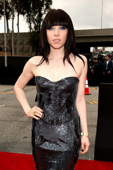 Singer Carly Rae Jepsen arrives at the 55th Annual GRAMMY Awards on February 10, 2013 in Los Angeles, California.