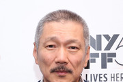 """South Korean director Hong Sang-soo attends the screening of """"The Day After"""" during the 55th New York Film Festival at The Film Society of Lincoln Center, Walter Reade Theatre on October 7, 2017 in New York City."""