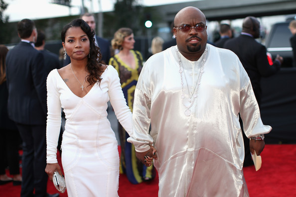 Producer Cee Lo Green (R) and daughter (L)  attend the 56th GRAMMY Awards at Staples Center on January 26, 2014 in Los Angeles, California.