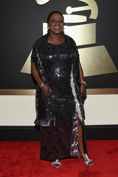 Musicians Sharon Jones attends The 57th Annual GRAMMY Awards at the STAPLES Center on February 8, 2015 in Los Angeles, California.