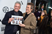 """Josh Pais and Willem Dafoe attend the """"Motherless Brooklyn"""" Arrivals during the 57th New York Film Festival on October 11, 2019 in New York City."""