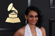 Tanvi Shah arrives for the 59th Grammy Awards pre-telecast on February 12, 2017, in Los Angeles, California.  / AFP / Mark RALSTON