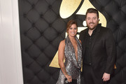 Singers Cassadee Pope and Chris Young attend The 59th GRAMMY Awards at STAPLES Center on February 12, 2017 in Los Angeles, California.