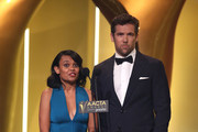 Patrick Brammall and Miranda Tapsell during the 5th AACTA Awards Presented by Presto at The Star on December 9, 2015 in Sydney, Australia.