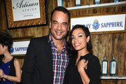 Evan Hainey and Rosario Dawson attend the 5th Annual Bombay Sapphire Artisan Series Finale at Tent at Soho Beach House on December 4, 2014 in Miami, Florida.