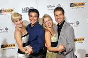 (L-R) Television personalities Kelly Osbourne, Mark Ballas, Melissa Joan Hart and Louis van Amstel arrive at the 5th Annual GLSEN Respect Awards at the Beverly Hills Hotel on October 9, 2009 in Beverly Hills, California.