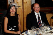 Prince Albert II of Monaco (R) and Cristina Chiabotto (L) attend the 5th World Stars Ski Event held at Grand Hotel Sestriere on March 20, 2010 in Turin, Italy.