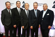 Darrell Friedman, 2018 Entertainment Law Initiative Service award recipient Michael Reinert, President and CEO, Recording Academy, Board Chair, GRAMMY Museum® Neil Portnow,  New York Attorney General Eric Schneiderman, and President's Merit Award Winner Allen Grubman attend The Recording Academy™'s 20th annual Entertainment Law Initiative® Event & Scholarship Presentation on January 26, 2018 at New World Stages at Worldwide Plaza in New York City. For more information, visit www.grammy.com/entertainment-law-initiative.