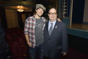 Jason Mraz and Blake Farenthold attend the 60th Annual GRAMMY Awards - GRAMMY Congressional Briefing at Brooks Atkinson Theatre on January 27, 2018 in New York City.