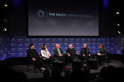 (L-R) David Wild, writer/producer GRAMMY Awards, Chantel Sausedo, talent producer GRAMMY Awards, Jack Sussman, executive vice president Specials, Music and Live Events CBS Entertainment, Ken Ehrlich, executive producer GRAMMY Awards, Neil Portnow, President and CEO The Recording Academy, and Scott Goldman, executive director GRAMMY Museum attend GRAMMY Museum Program Panel Discussion for the 60th Annual GRAMMY Awards at The Paley Center For Media on January 22, 2018 in New York City.