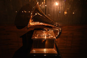 Grammy Award displayed at the Producers and Engineers Wing 11th Annual GRAMMY Week Event Honoring Swizz Beatz And Alicia Keys at The Rainbow Room on January 25, 2018 in New York City.