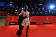 Actress Amanda Peet (R) and director Nicole Holofcener attend the 'Please Give' Premiere during day six of the 60th Berlin International Film Festival at the Berlinale Palast on February 16, 2010 in Berlin, Germany.
