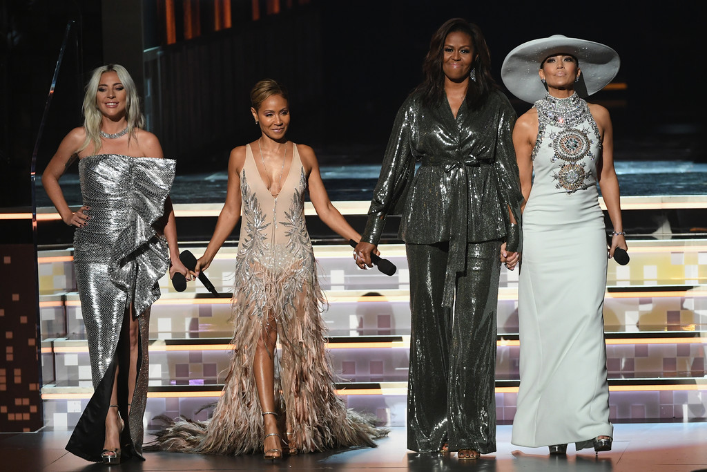 Michelle Obama Makes Surprise Appearance At 61st Grammy Awards