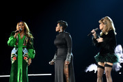 (L-R) Yolanda Adams, Fantasia Barrino and Andra Day perform onstage during the 61st Annual GRAMMY Awards at Staples Center on February 10, 2019 in Los Angeles, California.
