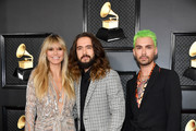 (L-R) Heidi Klum,  Tom Kaulitz and Bill Kaulitz attend the 62nd Annual GRAMMY Awards at Staples Center on January 26, 2020 in Los Angeles, California.