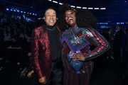 (L-R) Smokey Robinson and Yola attend the 62nd Annual GRAMMY Awards at STAPLES Center on January 26, 2020 in Los Angeles, California.