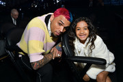 (L-R) Chris Brown and Royalty Brown attends the 62nd Annual GRAMMY Awards at STAPLES Center on January 26, 2020 in Los Angeles, California.
