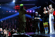 (L-R) Billie Eilish accepts the Best New Artist award from Alicia Keys and Dua Lipa onstage during the 62nd Annual GRAMMY Awards at STAPLES Center on January 26, 2020 in Los Angeles, California.