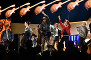 BTS and Billy Ray Cyrus  perform onstage during the 62nd Annual GRAMMY Awards at STAPLES Center on January 26, 2020 in Los Angeles, California.