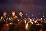 (L-R) Nick Jonas, Kevin Jonas, and Joe Jonas of music group Jonas Brothers perform onstage during the 62nd Annual GRAMMY Awards at STAPLES Center on January 26, 2020 in Los Angeles, California.