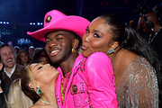 (L-R) Ariana Grande, Lil Nas X, and Lizzo attend the 62nd Annual GRAMMY Awards at STAPLES Center on January 26, 2020 in Los Angeles, California.