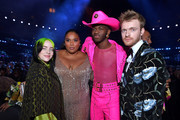 (L-R) Billie Eilish, Lizzo  Lil Nas X, and Finneas O'Connell attend the 62nd Annual GRAMMY Awards at STAPLES Center on January 26, 2020 in Los Angeles, California.