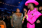 (L-R) Lizzo and Lil Nas X during the 62nd Annual GRAMMY Awards at STAPLES Center on January 26, 2020 in Los Angeles, California.
