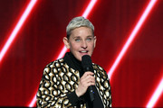 Ellen DeGeneres speaks onstage during the 62nd Annual GRAMMY Awards at STAPLES Center on January 26, 2020 in Los Angeles, California.