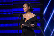 Alicia Keys speaks onstage during the 62nd Annual GRAMMY Awards at Staples Center on January 26, 2020 in Los Angeles, California.