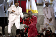 (L-R) DJ Khaled and YG perform onstage during the 62nd Annual GRAMMY Awards at Staples Center on January 26, 2020 in Los Angeles, California.