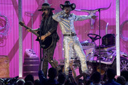 Billy Ray Cyrus and  Lil Nas X perform onstage during the 62nd Annual GRAMMY Awards at Staples Center on January 26, 2020 in Los Angeles, California.