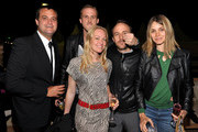 """(L-R) Producer Jamie Patricof, actor Ryan Gosling, producer Lynette Howell, director Derek Cianfrance and guest attend the """"Art of Elysium Paradis Dinner and Party"""" at Michael Saylor's Yacht, Slip S05 during the 63rd Annual Cannes Film Festival on May 19, 2010 in Cannes, France."""