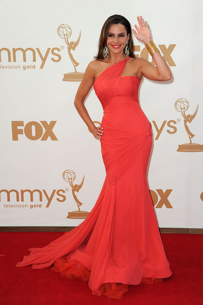 Actress Sofía Vergara arrives at the 63rd Annual Primetime Emmy Awards held at Nokia Theatre L.A. LIVE on September 18, 2011 in Los Angeles, California.