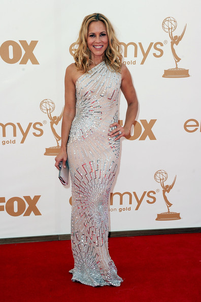 Actress Maria Bello arrives at the 63rd Annual Primetime Emmy Awards held at Nokia Theatre L.A. LIVE on September 18, 2011 in Los Angeles, California.