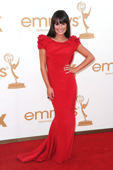 Actress Lea Michele arrives at the 63rd Annual Primetime Emmy Awards held at Nokia Theatre L.A. LIVE on September 18, 2011 in Los Angeles, California.
