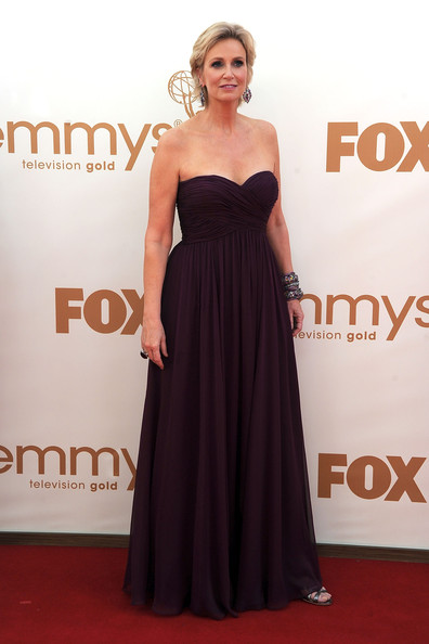Host Jane Lynch arrives at the 63rd Annual Primetime Emmy Awards held at Nokia Theatre L.A. LIVE on September 18, 2011 in Los Angeles, California.