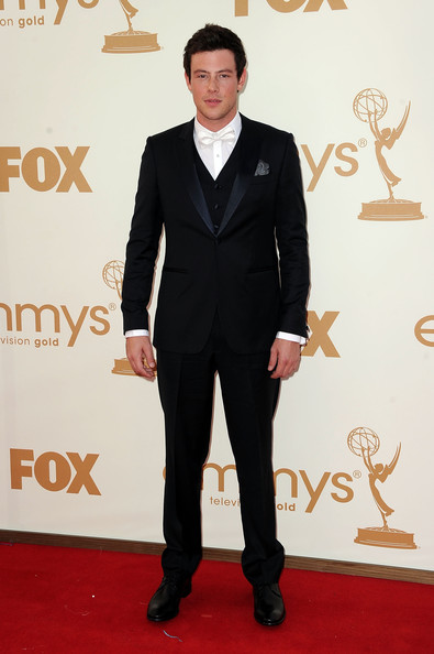 Actor Cory Monteith arrives at the 63rd Annual Primetime Emmy Awards held at Nokia Theatre L.A. LIVE on September 18, 2011 in Los Angeles, California.