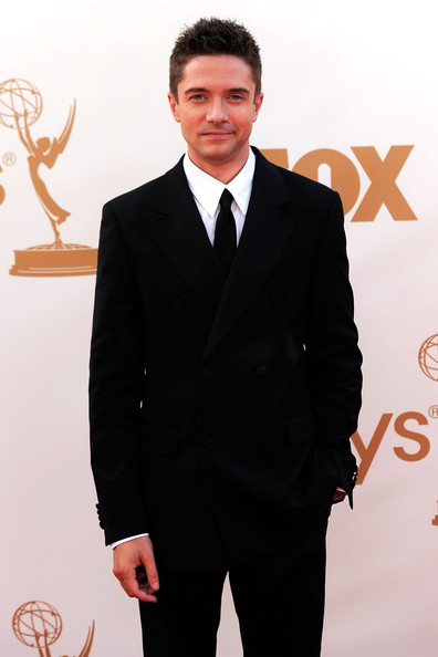 Actor Topher Grace arrives at the 63rd Annual Primetime Emmy Awards held at Nokia Theatre L.A. LIVE on September 18, 2011 in Los Angeles, California.