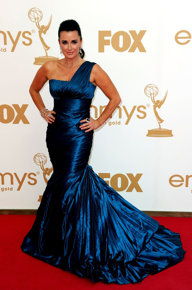 TV personality Kyle Richards arrives at the 63rd Annual Primetime Emmy Awards held at Nokia Theatre L.A. LIVE on September 18, 2011 in Los Angeles, California.