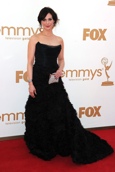 Actress Michelle Forbes arrives at the 63rd Annual Primetime Emmy Awards held at Nokia Theatre L.A. LIVE on September 18, 2011 in Los Angeles, California.